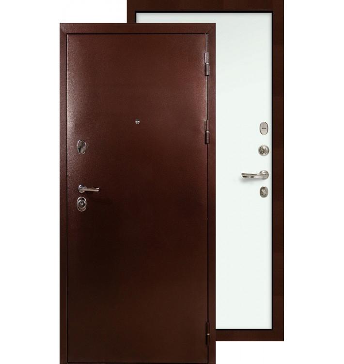 Входная дверь Лекс Титан медь ФЛ-59 (Белый ясень)