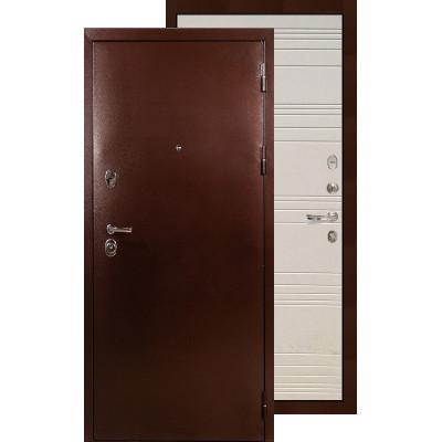 Входная дверь Лекс Титан медь ФЛ-63 (Дуб фактурный)