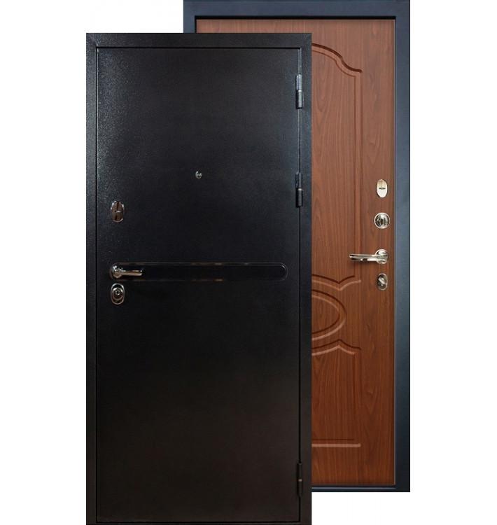 Входная дверь Лекс Титан серебро ФЛ-12 (Береза мореная)