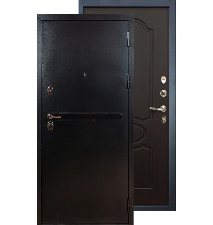 Входная дверь Лекс Титан серебро ФЛ-13 (Венге)
