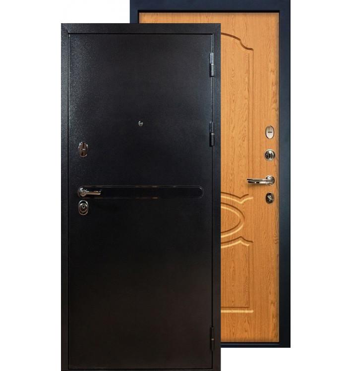 Входная дверь Лекс Титан серебро ФЛ-15 (Дуб натуральный)