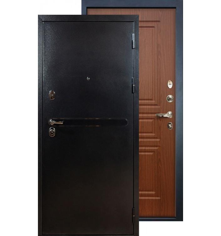 Входная дверь Лекс Титан серебро ФЛ-19 (Береза мореная)