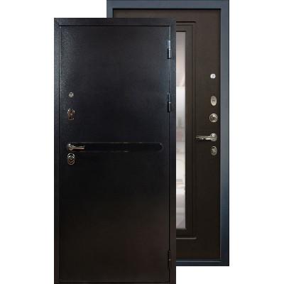 Входная дверь Лекс Титан серебро с зеркалом (Венге)