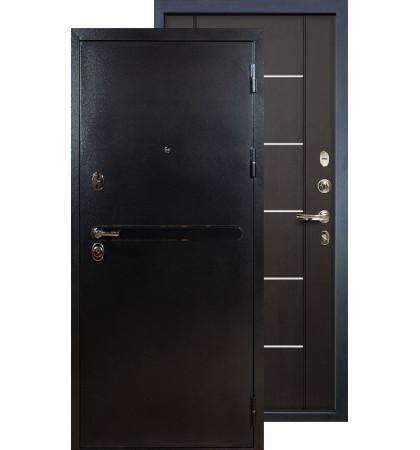 Входная дверь Лекс Титан серебро ФЛ-24 (Венге)