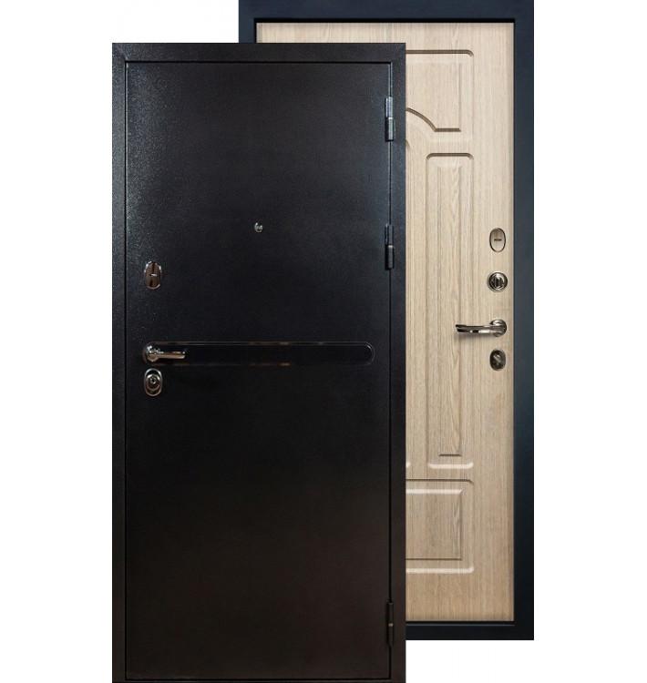 Входная дверь Лекс Титан серебро ФЛ-25 (Беленый дуб)