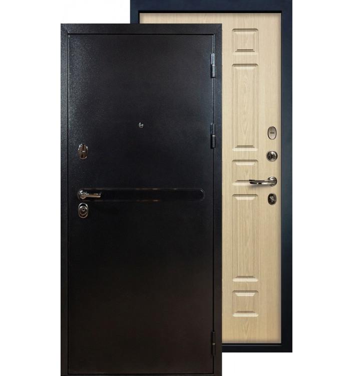Входная дверь Лекс Титан серебро ФЛ-28 (Беленый дуб)