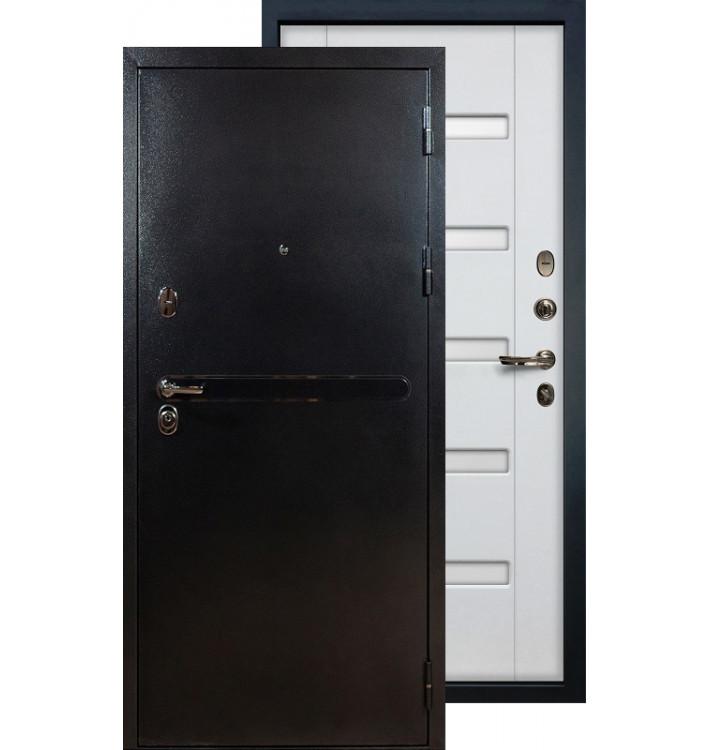 Входная дверь Лекс Титан серебро ФЛ-34 (Белый ясень)