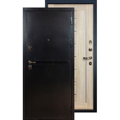 Входная дверь Лекс Титан серебро Верджиния (Кремовый ясень)
