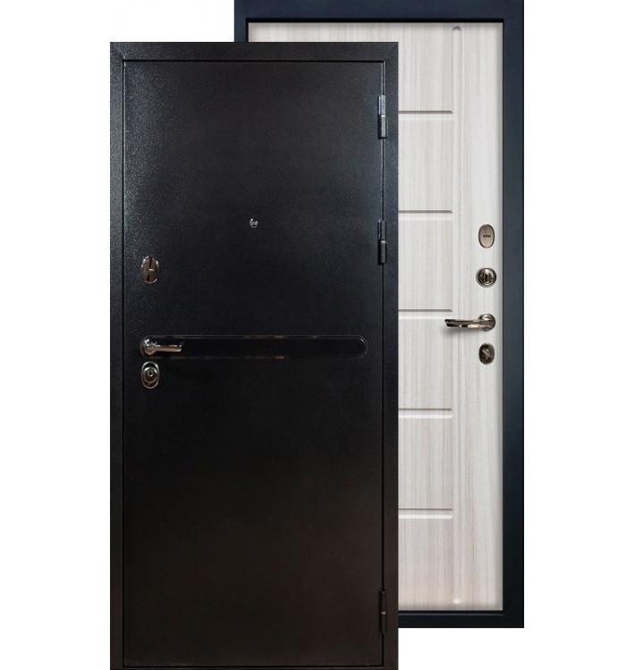 Входная дверь Лекс Титан серебро ФЛ-42 (Сандал белый)