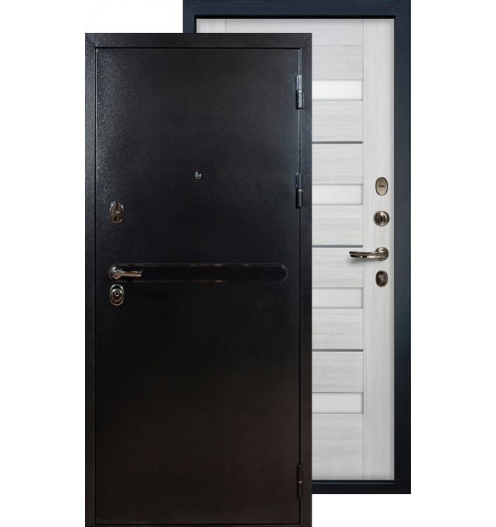 Входная дверь Лекс Титан серебро Сицилио (Беленый дуб)