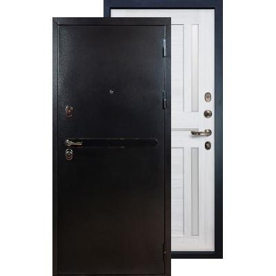 Входная дверь Лекс Титан серебро Баджио (Беленый дуб)