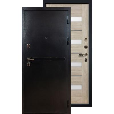 Входная дверь Лекс Титан серебро Сицилио (Кремовый ясень)