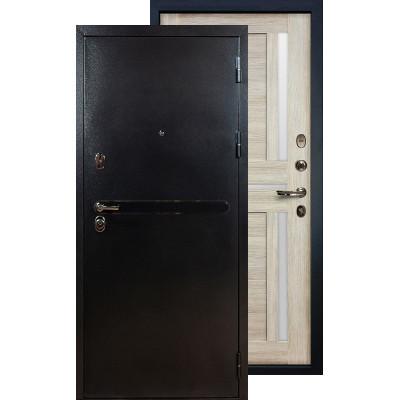 Входная дверь Лекс Титан серебро Баджио (Кремовый ясень)