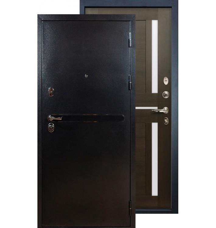 Входная дверь Лекс Титан серебро Баджио (Венге)