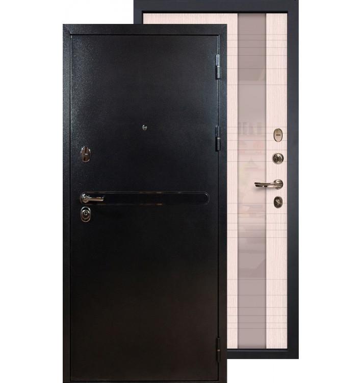 Входная дверь Лекс Титан серебро Новита (Беленый дуб)