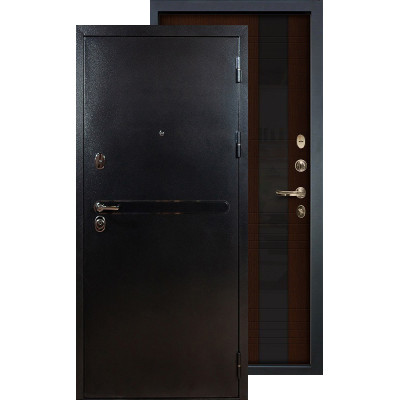 Входная дверь Лекс Титан серебро Новита (Венге)