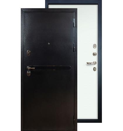 Входная дверь Лекс Титан серебро ФЛ-59 (Белый ясень)
