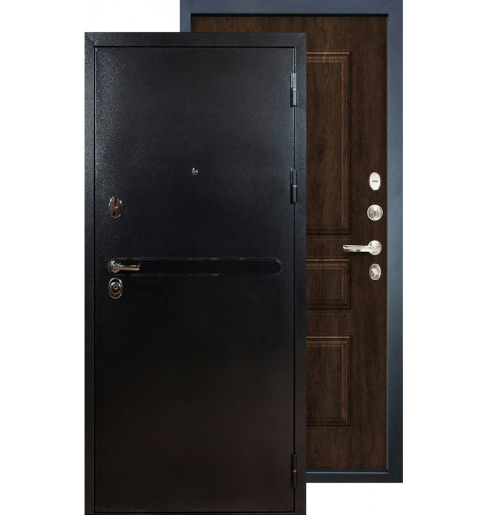 Входная дверь Лекс Титан серебро ФЛ-60 (Алмон 28)