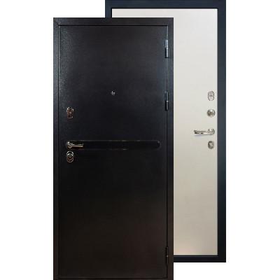 Входная дверь Лекс Титан серебро ФЛ-62 (Белый ясень)