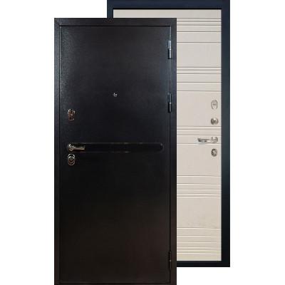 Входная дверь Лекс Титан серебро ФЛ-63 (Дуб фактурный)