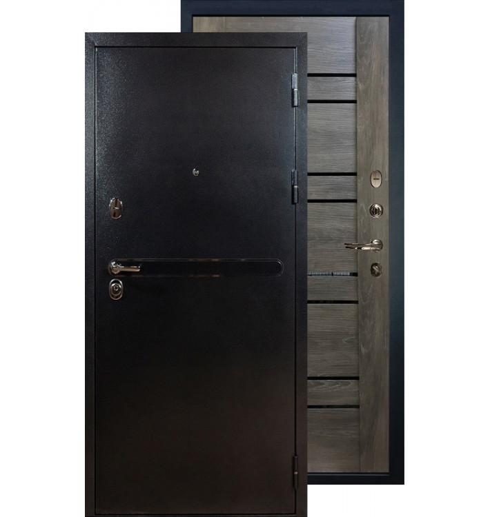 Входная дверь Лекс Титан серебро Терра (Графит шале)