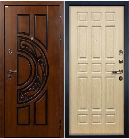 Входная дверь Спартак CISA / Беленый дуб (панель №28)