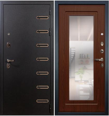 Входная дверь Витязь / с зеркалом Береза мореная (панель №30)