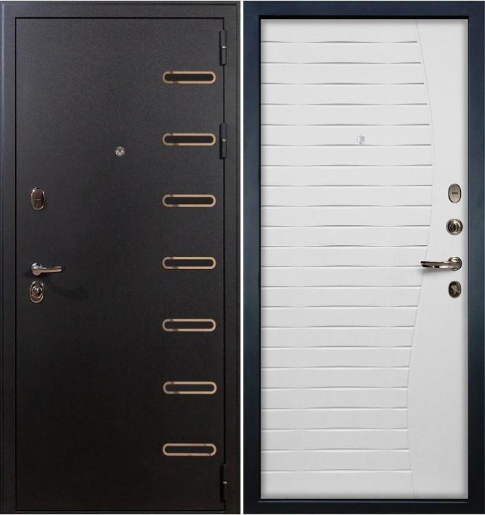 Входная дверь Лекс Витязь / Волна Белый ясень (панель №37)