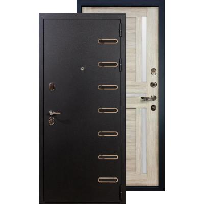 Входная дверь Лекс Витязь Баджио (Кремовый ясень)