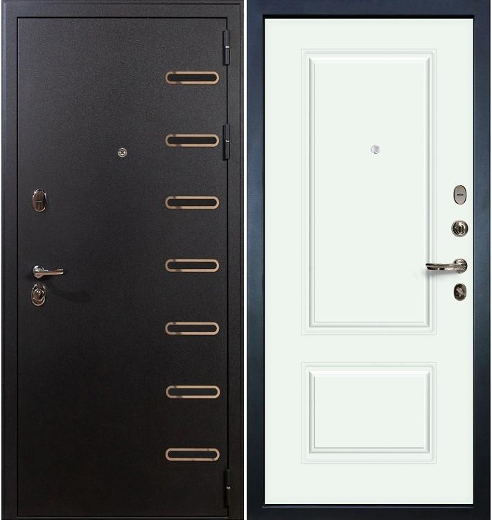 Входная дверь Витязь / Вероника Белая эмаль (панель №55)