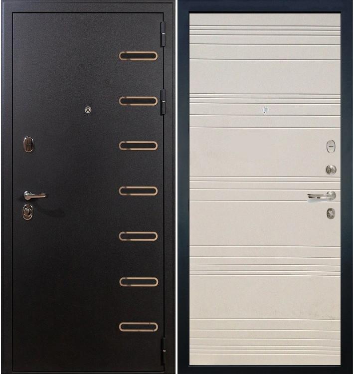 Входная дверь Витязь / Дуб фактурный крем (панель №63)