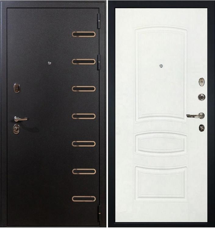 Входная дверь Лекс Витязь / Белая шагрень (панель №68)