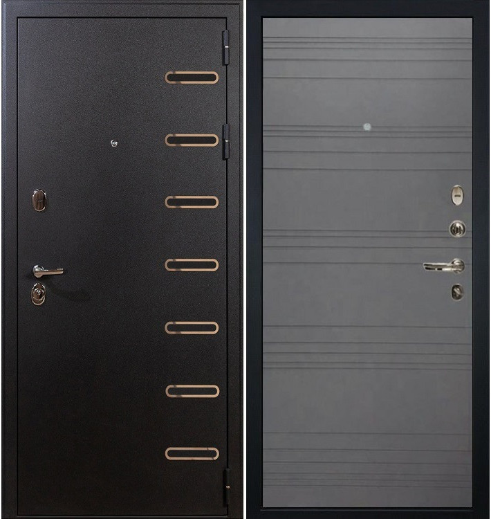 Входная дверь Витязь / Графит софт (панель №70)