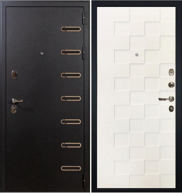 Входная дверь Лекс Витязь / Квадро Белая шагрень (панель №71)