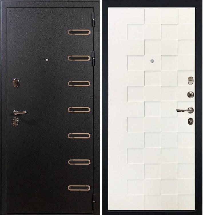Входная дверь Витязь / Квадро Белая шагрень (панель №71)