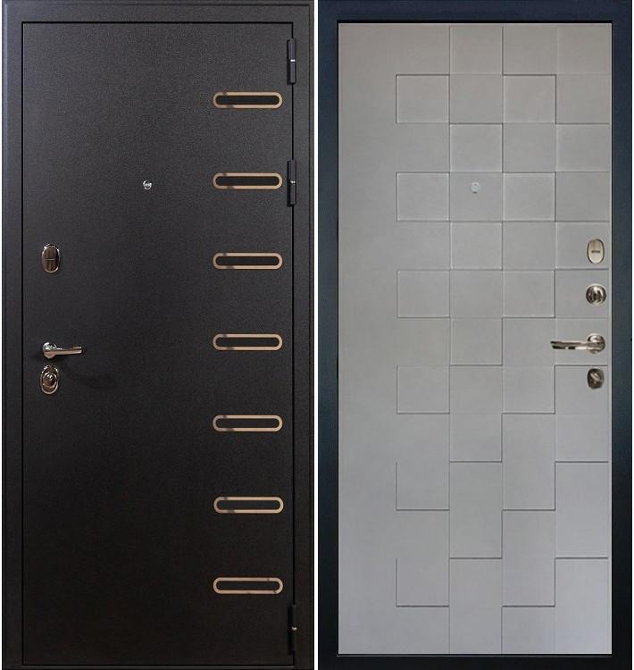 Входная дверь Витязь / Квадро Графит софт (панель №72)